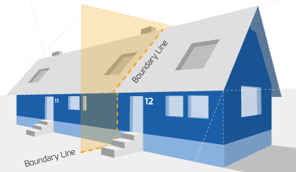 Party Wall illustration for Hackney Surveyors
